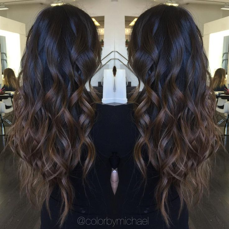 "Michael Klomsue on Instagram: ""Brunette Ombré... @perlie_angel"""