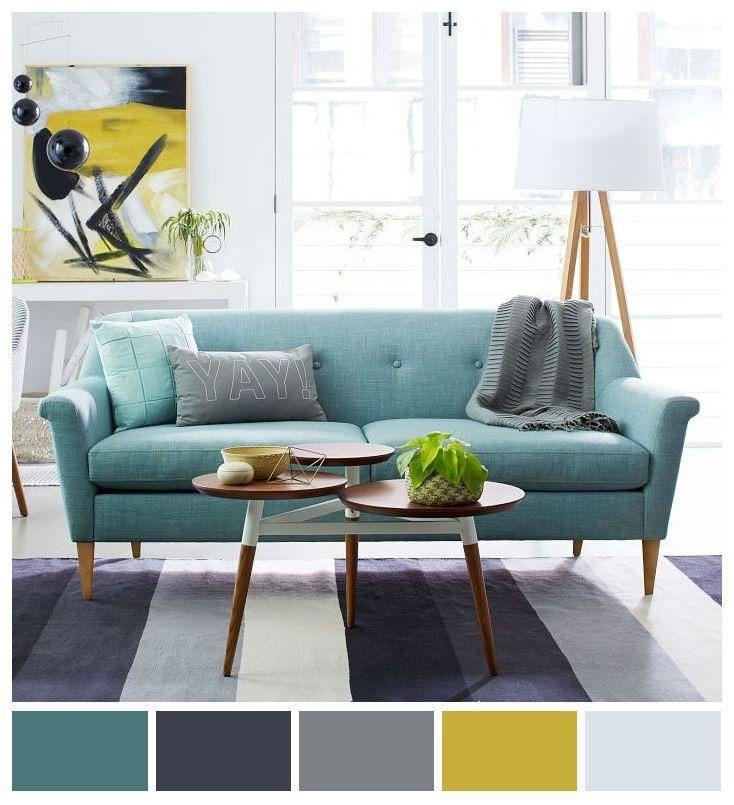 Colores frescos perfectos para crear un buen ambiente, relajado y con mucho atractivo visual.