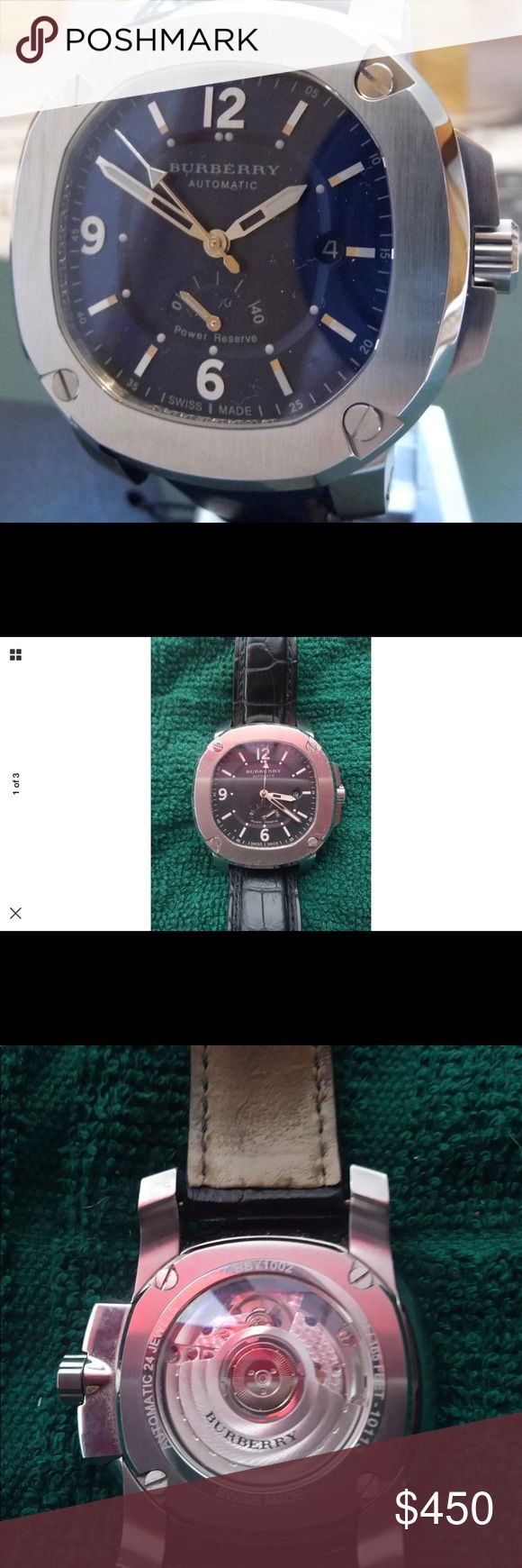 Burberry men's watch. In great working condition. Model # BBY1002 Burberry Accessories Watches
