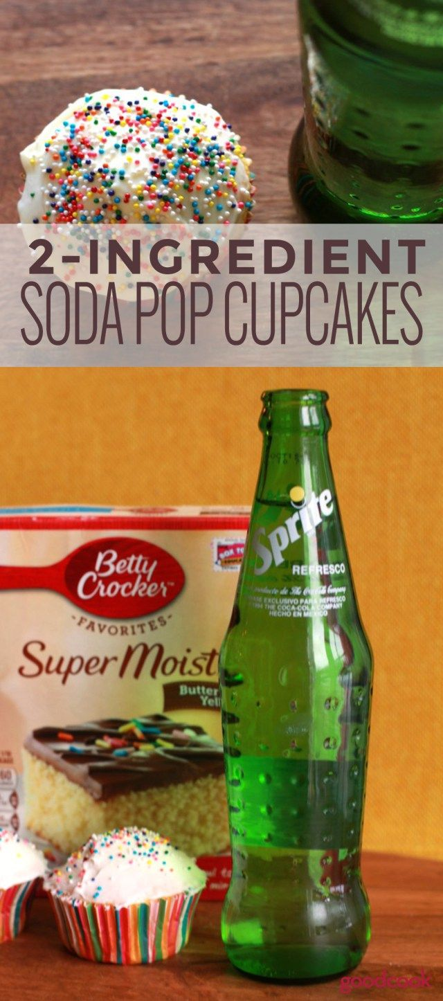 Quick and Simple, did you know you can make cupcakes with just two simple ingredients...and one of them is soda pop!! Once baked, frost as desired and enjoy this yummy treat!