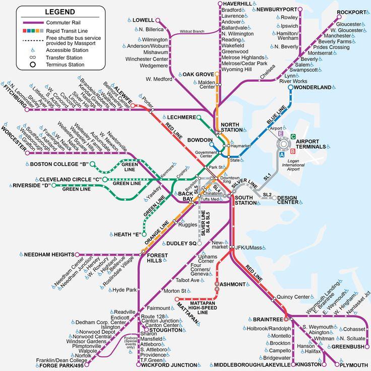 Commuter Rail Map, on MBTA website.
