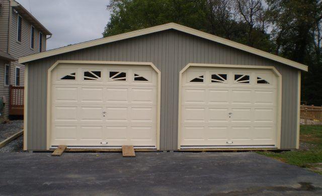 2 Car Garage Wood Amish Backyard Structures Garage Door Styles Garage Door Types Car Garage