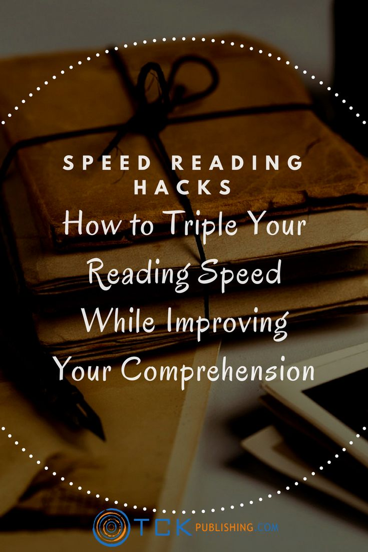 "If you've never learned how to ""speedread"" or ""photoread,"" you will be amazed how quickly you can improve your reading speed and improve your comprehension with these techniques. http://www.tckpublishing.com/speed-reading/"