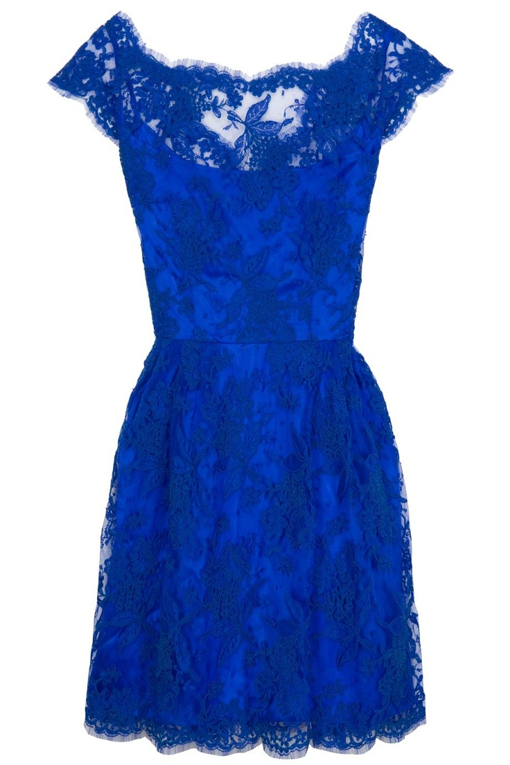 royal blue and lace