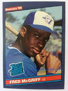 1986 Donruss Fred McGriff baseball card