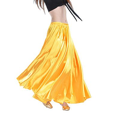 Belly+Dance+Skirts+Women's+Training+Satin+Champagne+/+Fuchsia+/+Pink+/+Purple+/+Royal+Blue+/+White+/+Yellow+/+BurgundyBelly+Dance+/+–+USD+$+14.99