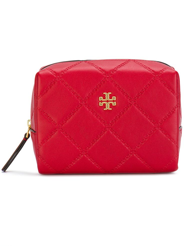 TORY BURCH GEORGIA SMALL MAKEUP BAG. #toryburch #bags #leather #