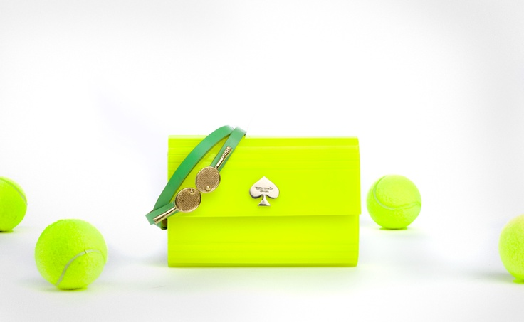 Kate Spade neon tennis mini wallet