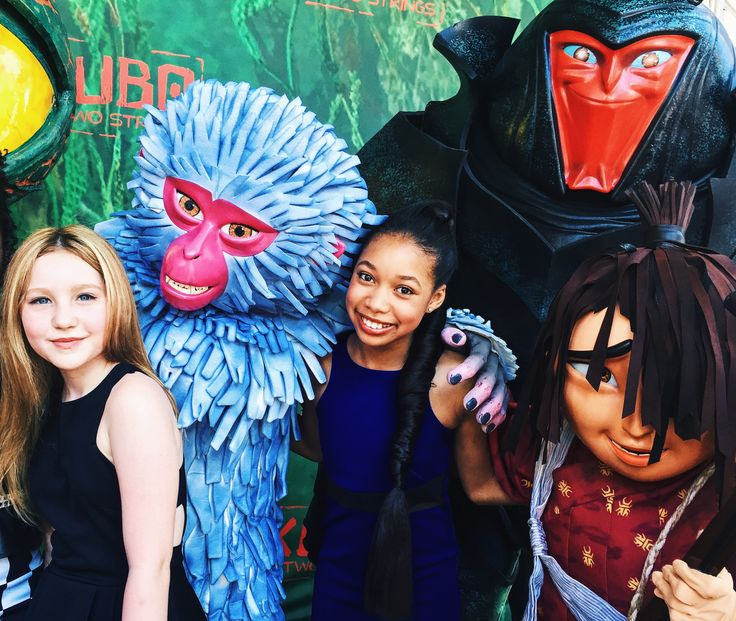 Ella Anderson and Kyla-Drew at the premiere of Kubo and the Two Strings.