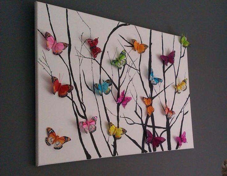 Bekijk de foto van ingeli12 met als titel Zelfgemaakt kleurrijk schilderij met vlinders en andere inspirerende plaatjes op Welke.nl.