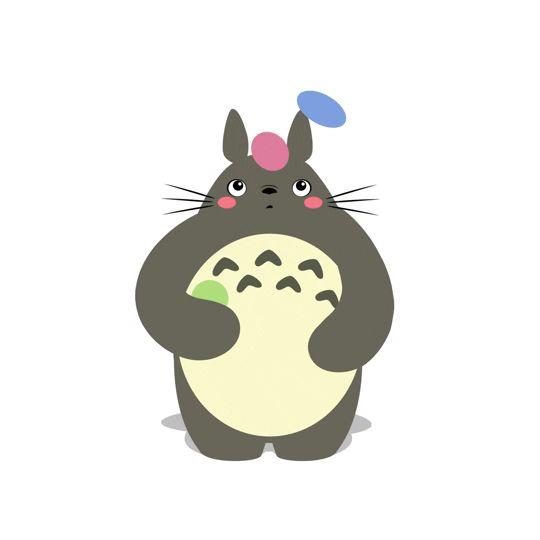 Adorables gifs ilustrados de Totoro haciendo ejercicio por CL Terry   FURIAMAG   Visibilizamos - Inspiramos - Conectamos
