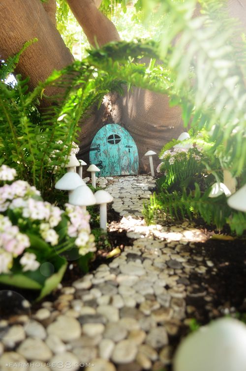 The Fairy Garden at Farmhouse38 - something like this in the middle of some azalea bushes for her imagination to run wild