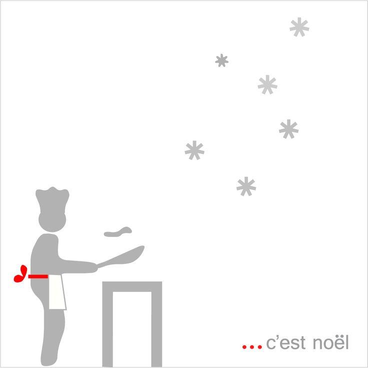 biglietto in carta di auguri in cui scene natalizie vengono rappresentate in chiave ironica con personaggi immaginari.  - natale, christmas, postcard, greeting, paper -