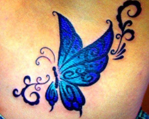 about Blue Butterfly Tattoo on Pinterest   Tribal butterfly tattoo ...