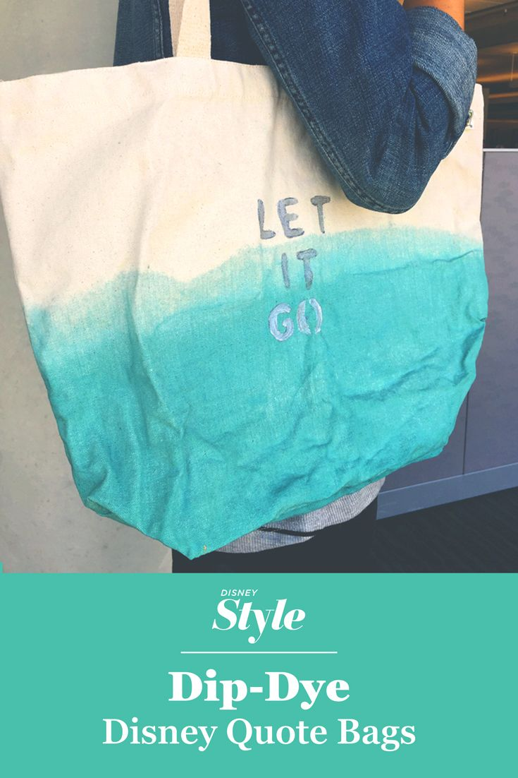 Create a Dip-Dyed Disney Quote Bag
