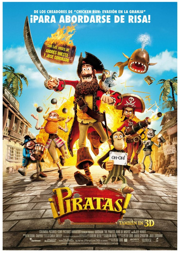 "¡Piratas! (2012) ""The Pirates! In an Adventure with Scientists!"" de Peter Lord, Jeff Newitt - tt1430626"