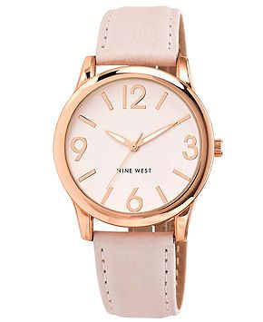 Nine West Women's Light Blush Strap Watch 40mm NW-1158PKRG - Women's Watches - Jewelry & Watches - Macy's