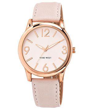 Nine West Women's Light Blush Strap Watch 40mm NW-1158PKRG - Women's Watches - Jewelry & Watches - Macy's