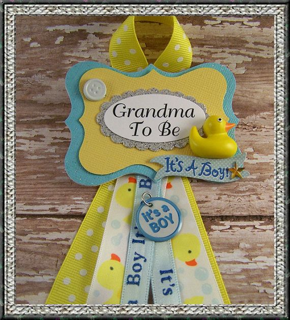 Boy Rubber Duck Grandma To Be Corsage Grandma To by BloomingParty