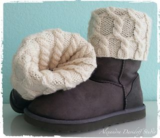 Change the look of your UGGs in an instant with these trendy boot toppers.