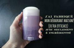 Déodorant naturel fait maison (avec seulements 4 ingrédients) / par withalovelikethat.fr