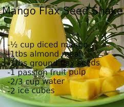 Paleo Mango Flax Seed Shake