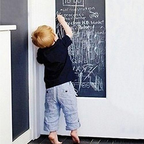 Amovible Grand Tableau Noir Sticker Mural Cadeau pour Enfants Tableau Noir + 5 Craies
