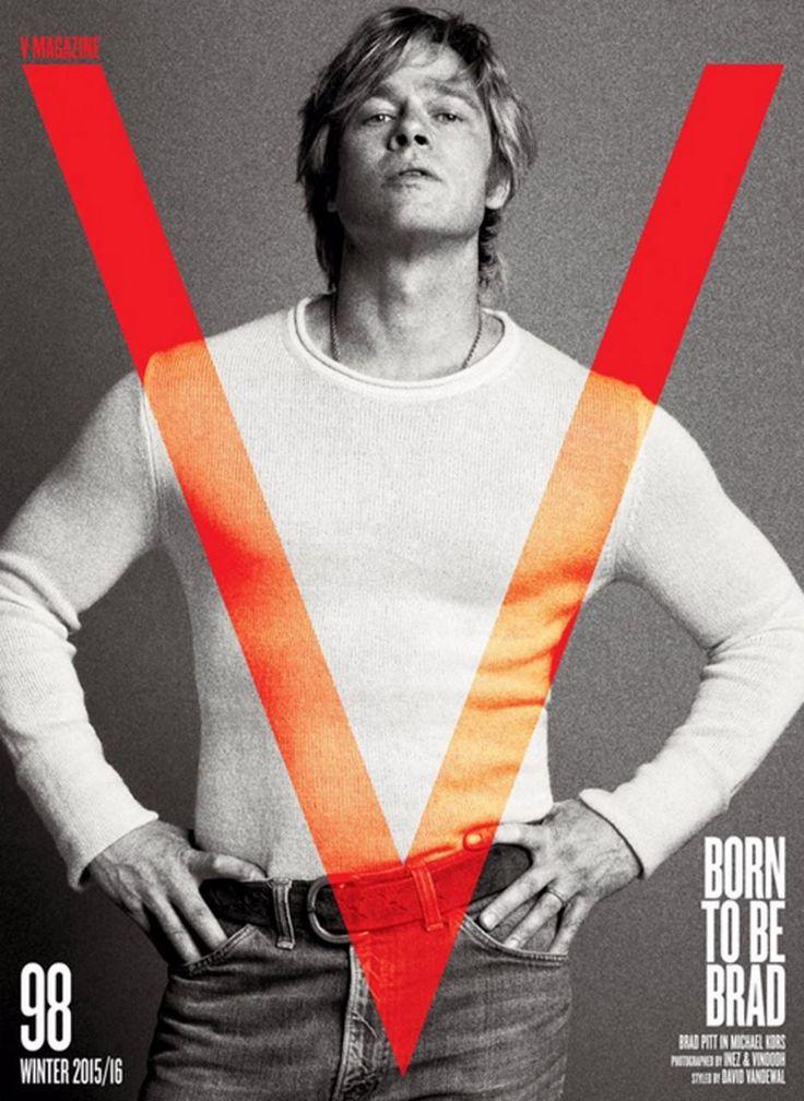Brad Pitt on the latest cover of V Magazine