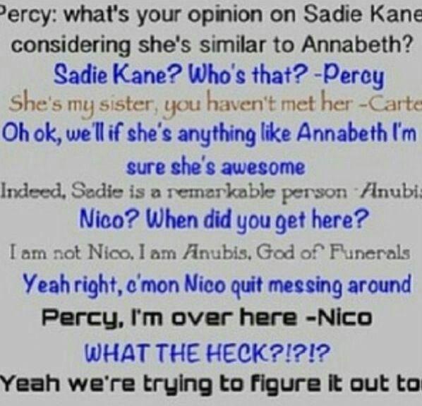 Percy Jackson and Kane's