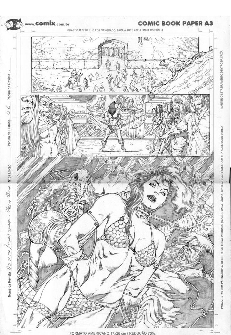 Red Sonja and Conan pag 01 by robsonrocha