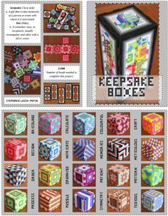 Perler Bead Keepsake Boxes. So much fun! by Steph Leech-Pepin