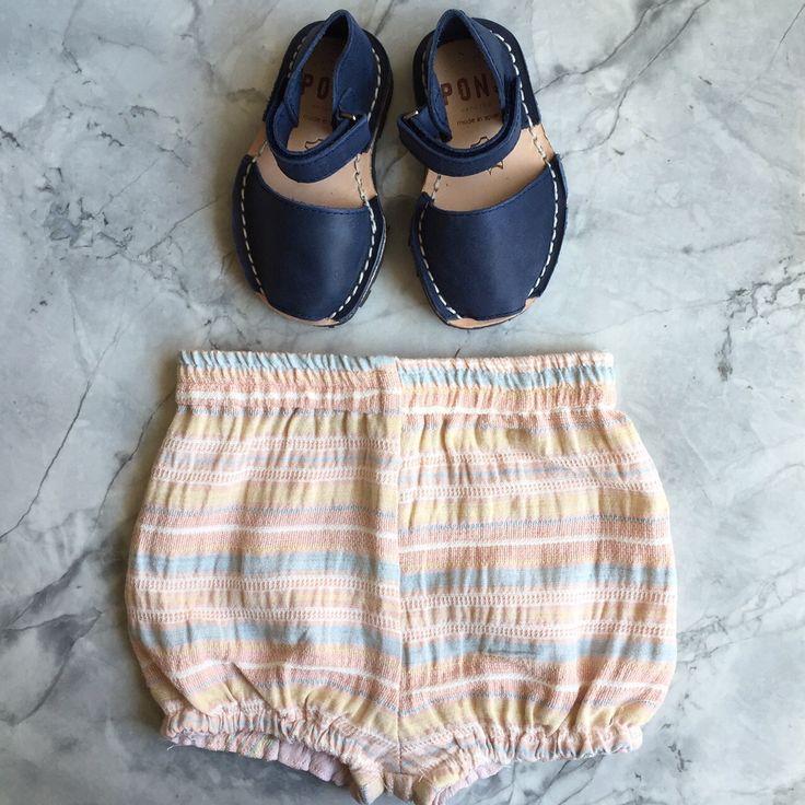 Avarcas Sandals + Ultra Violet Kids Bloomers | Darling Clementine