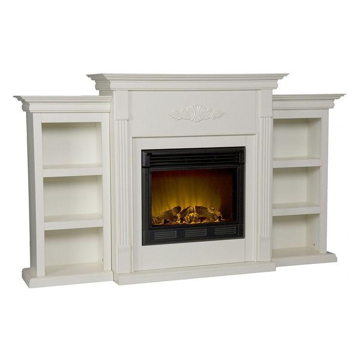 Tennyson Bookcase Electric Fireplace, Multicolor