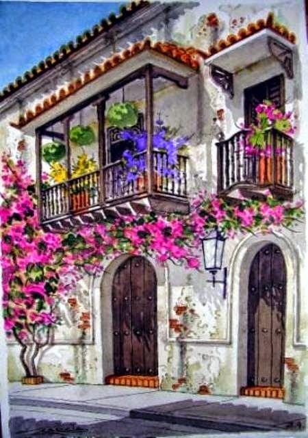 Pinturas & Cuadros: Flores y Balcones de Cartagenera Pinturas Para ...