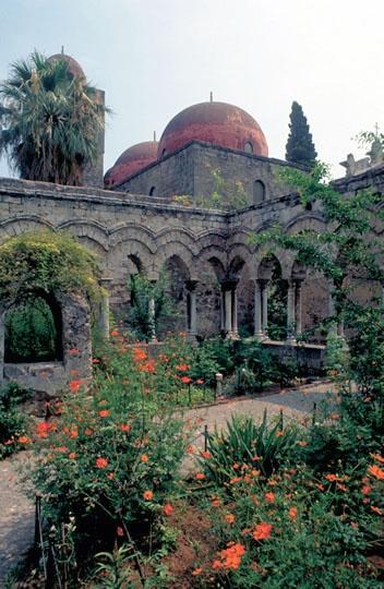 Garden in the ex cloister of San Giovanni degli Eremiti in Palermo, Sicily. Open to the public [photo by Vito Arcomano]