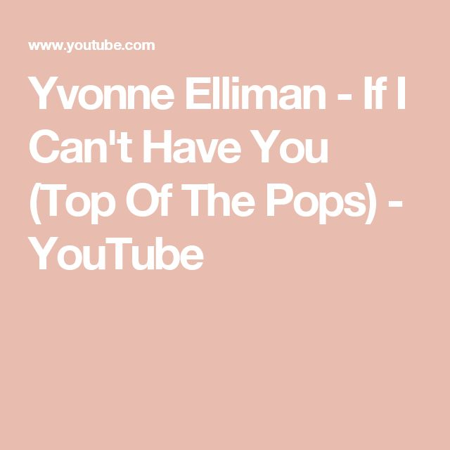 Yvonne Elliman - If I Can't Have You (Top Of The Pops) - YouTube