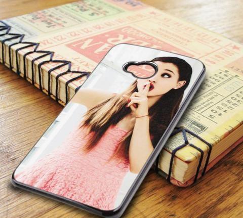 Ariana Grande Selfie Pink Lips HTC One M7 Case