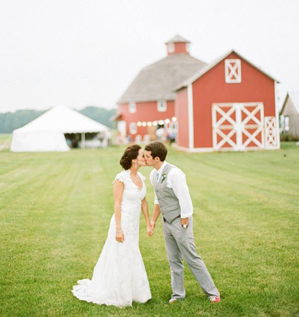 I love the picture, we are planning on getting married at his grandparents farm. I would love the barn in the background.