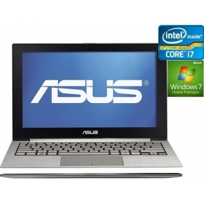 "Ultrabook Asus Zenbook Intel Core I7 13.3"" 4GB 256GB SSD Silver Win7 UX31-DH72"