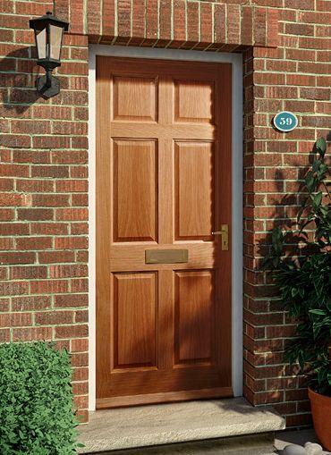 6 Panel Oak External Door #externaldoors