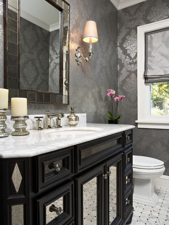 Powder Room Design, Pictures, Remodel, Decor and Ideas. Maybe for the guest bath.
