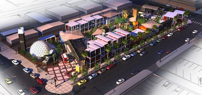 Container park las vegas mall arch pinterest parks garage and shipping containers - Container homes las vegas ...