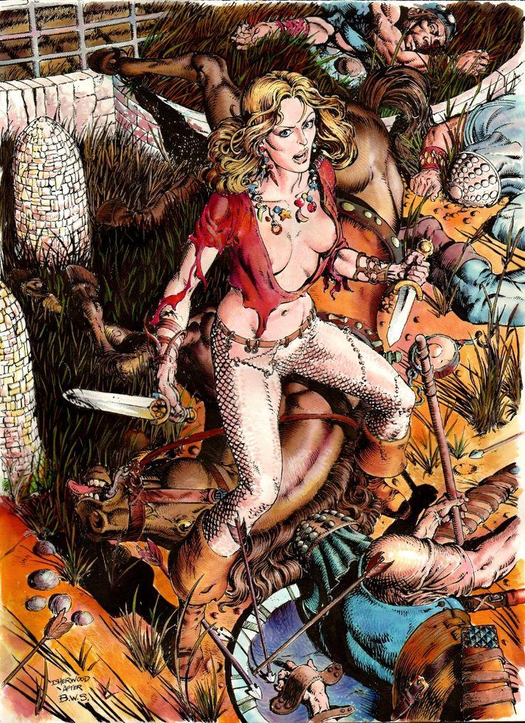 Valeria of the Red Brotherhood recreation after Barry Windsor Smith's 1975 Robert E. Howard Portfolio Comic Art