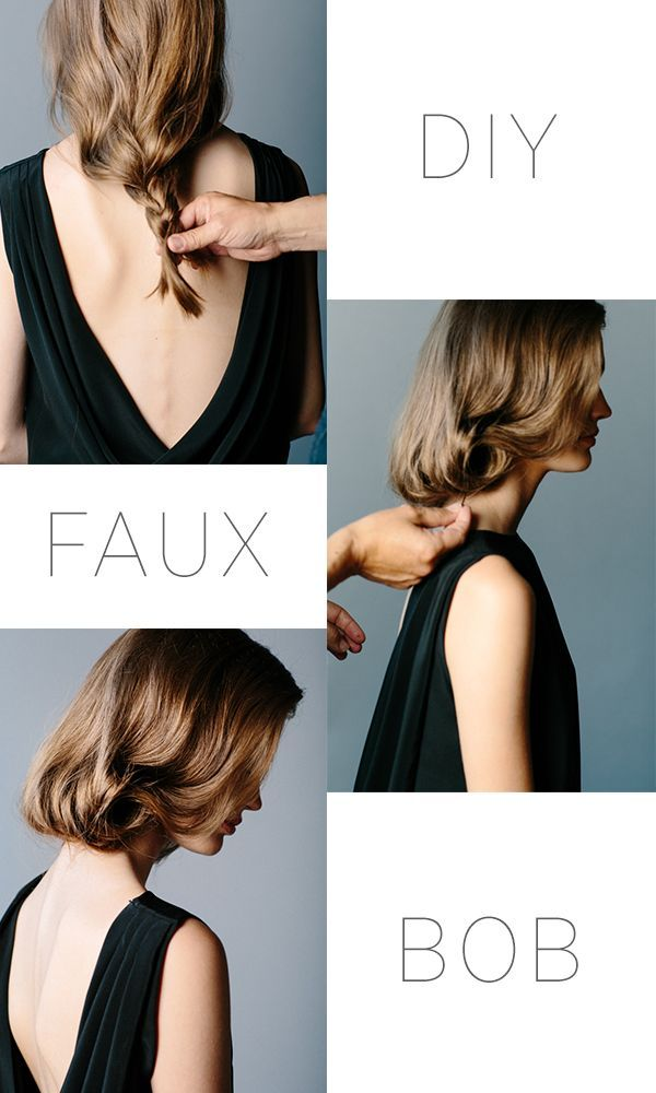 Want the look of a bob without the commitment of chopping it all off? Fake it til you make it with this DIY Faux Bob Tutorial