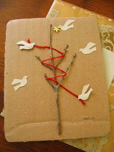 handmade christmas card by Being is my vision, via Flickr, tactile