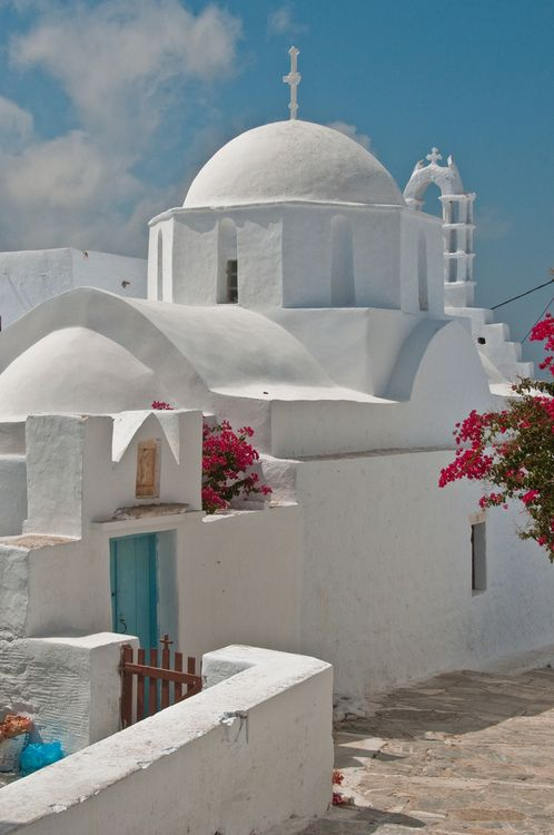All white - Amorgos, Greece