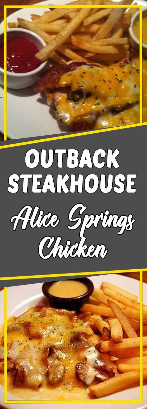 Outback Steakhouse Alice Springs Chicken #chickendinner #chickensalad #copycatrecipe #easyrecipes #chickencasserole #chicken