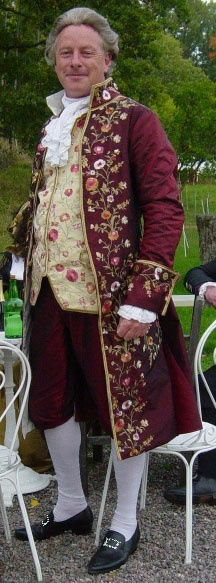Swedish Gentleman in 18thC outfit  made by his wife. Wonderful!