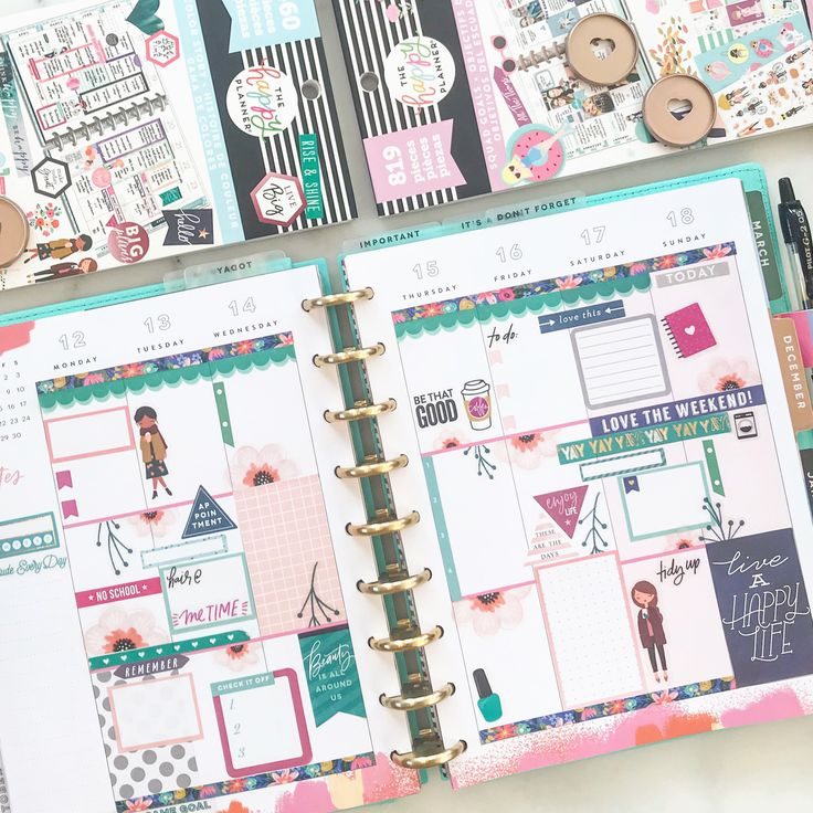 How to decorate in your planner. #plannergirl #planner # ...