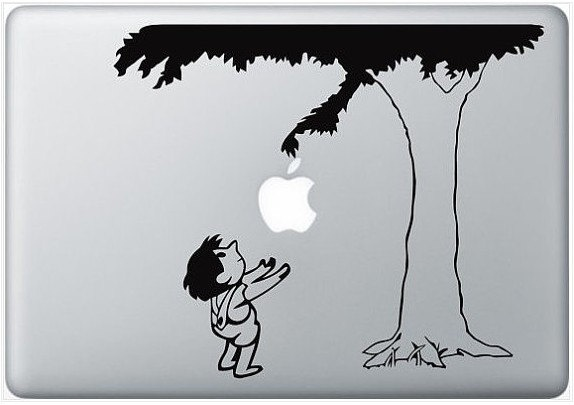 giving tree - macbook decal, macbook stickers, macbook cover skin, ipad decal covers. $6.39, via Etsy.